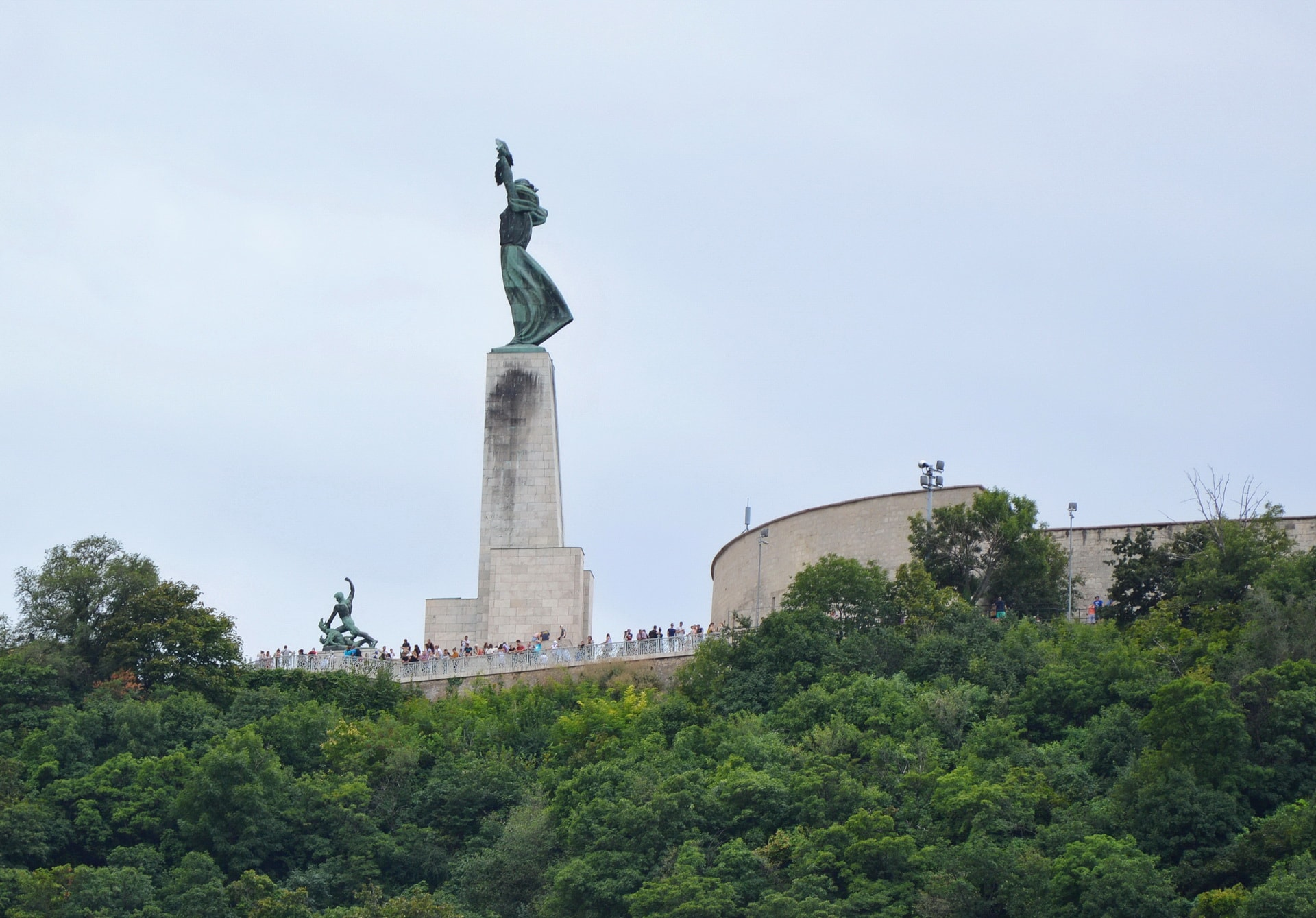 Top of Gellért hill with Citadella and the Liberty Monument