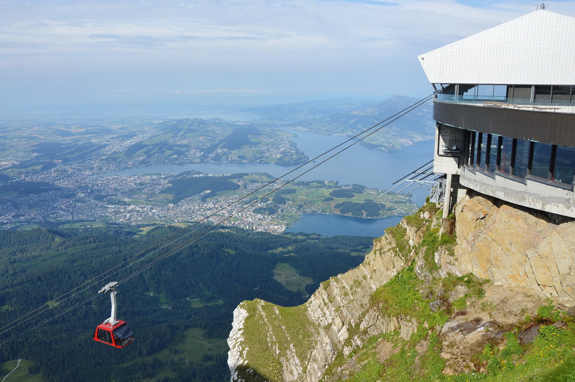 Cableway station on the top