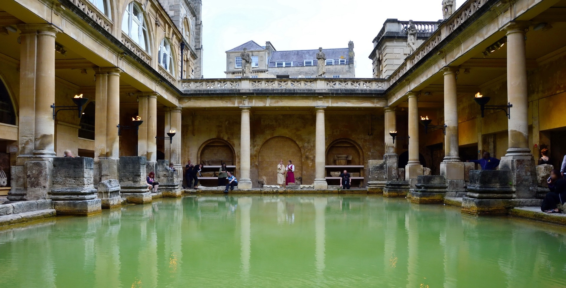 The main part of The Roman Baths