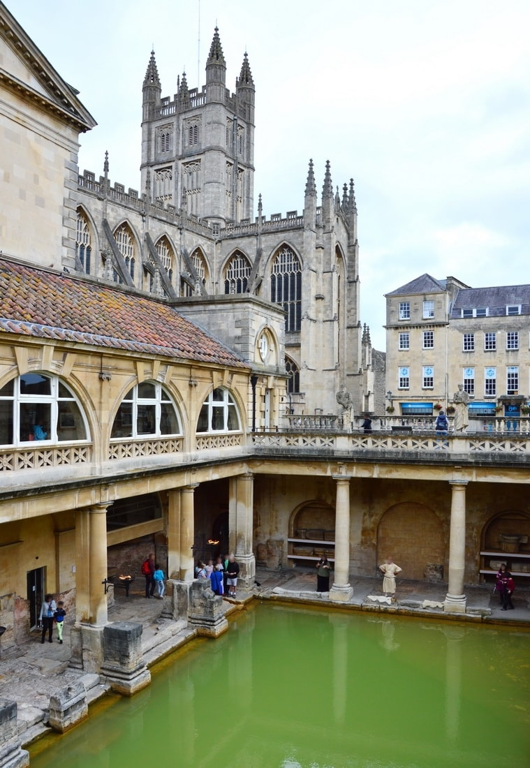 The Baths with the Bath Abbey in the background