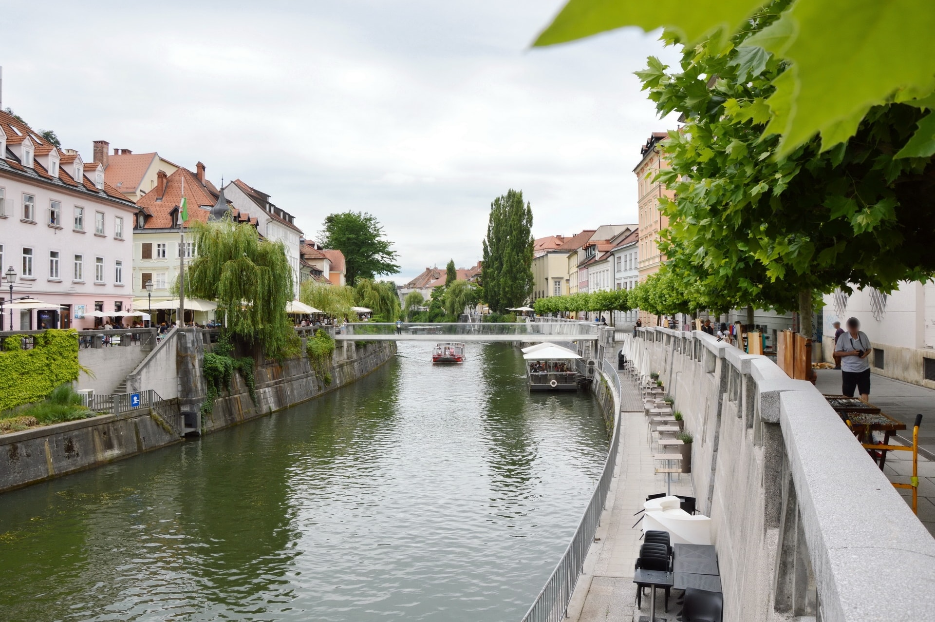 Embankments of the Slovenian capital are lined with trees