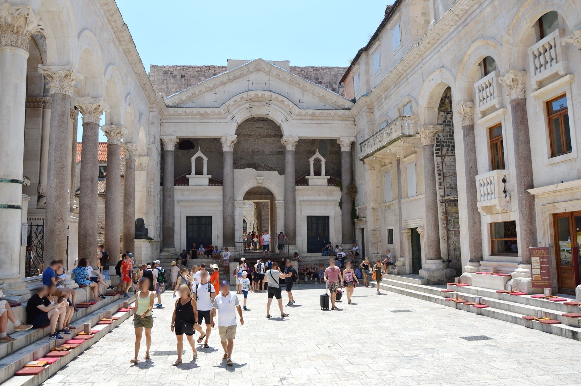 Peristyle Square in the heart of the Diocletian's Palace ruins