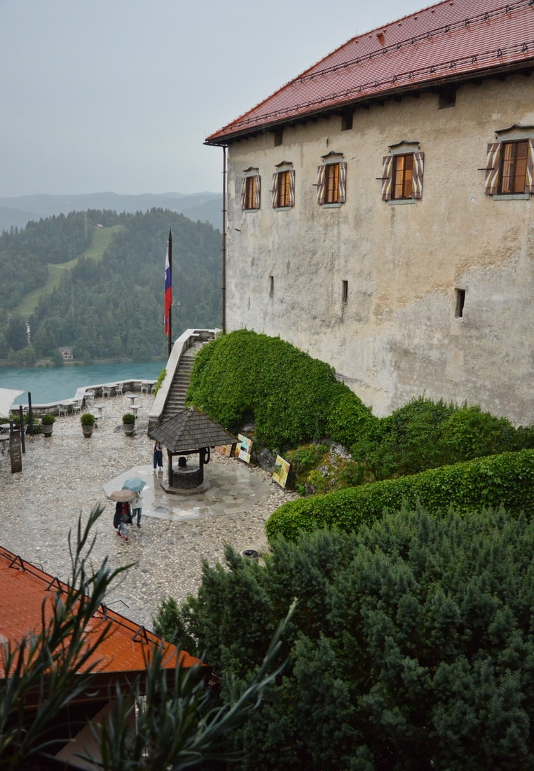 Courtyard of the Bled Castle