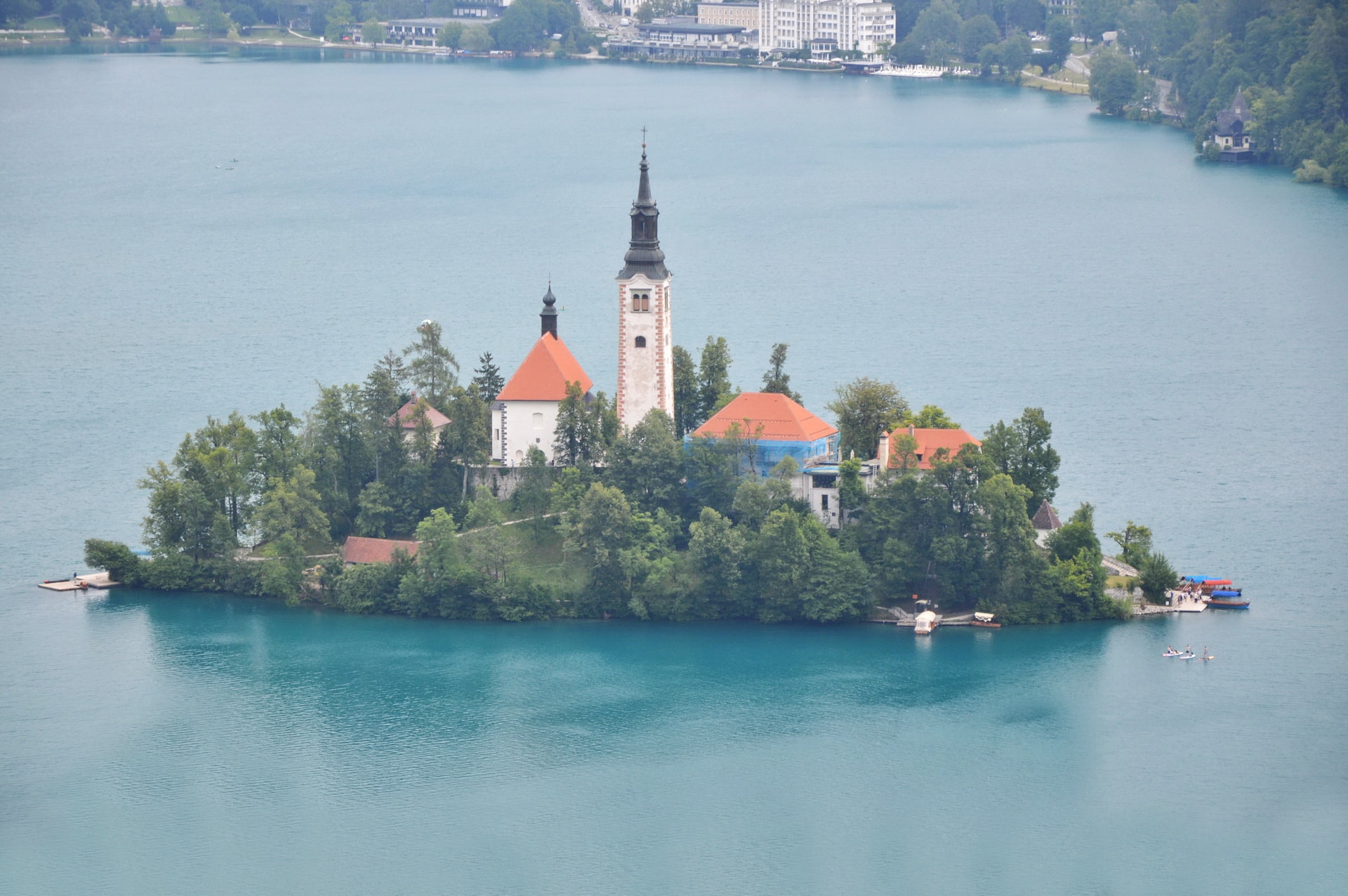 Bled Island seen from Ojstrica