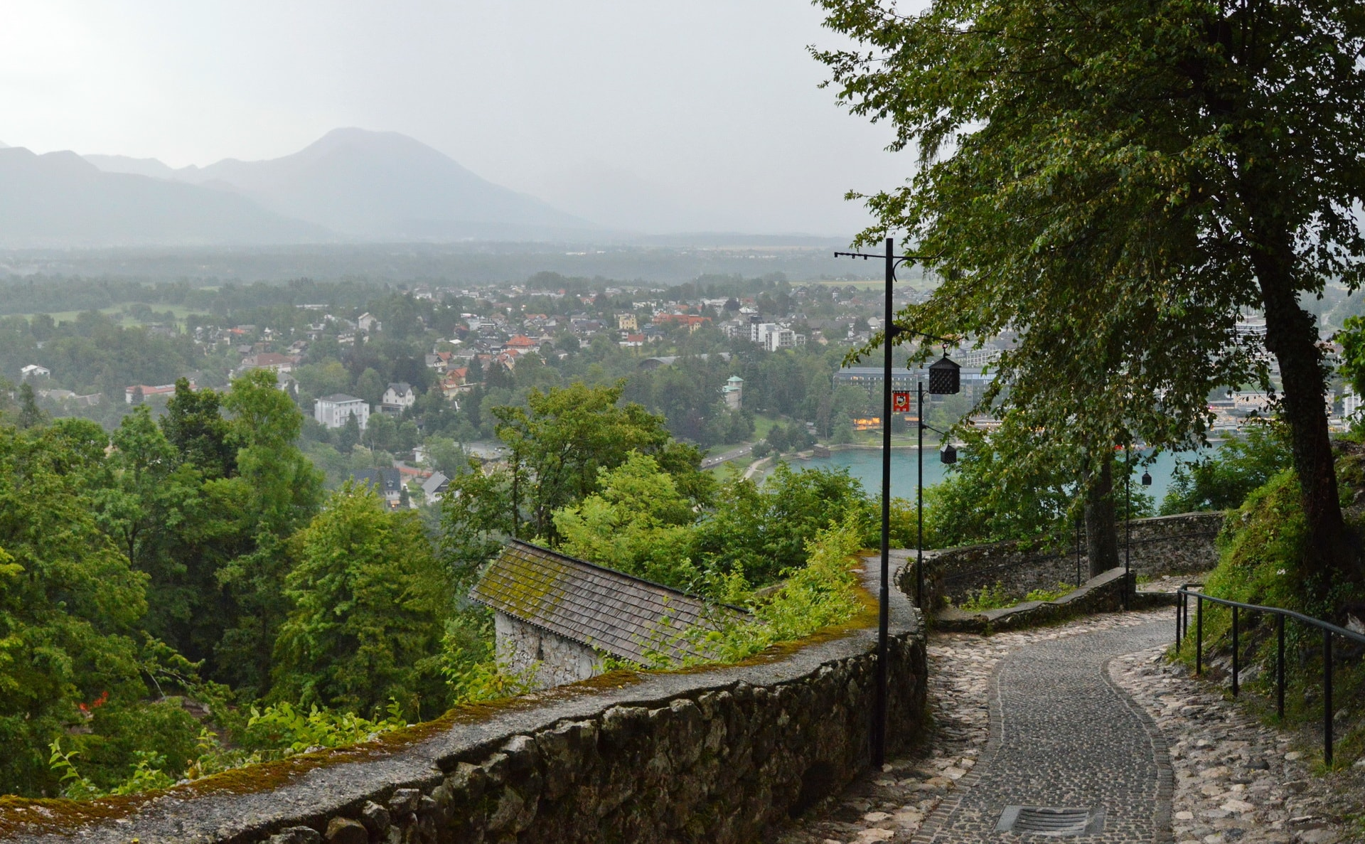 Climbing towards the Bled Castle