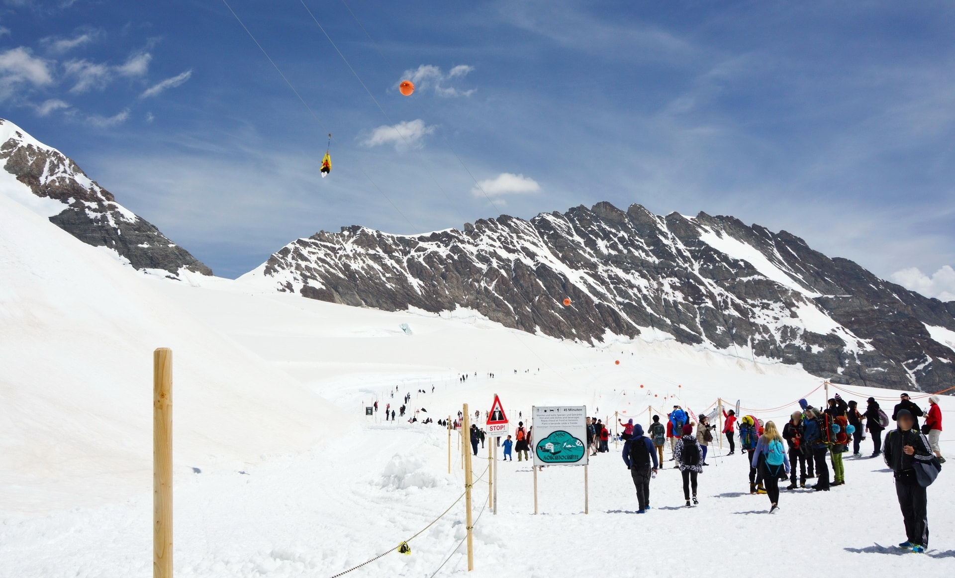 Jungfraujoch also offers a Snow Fun Park or a zipline