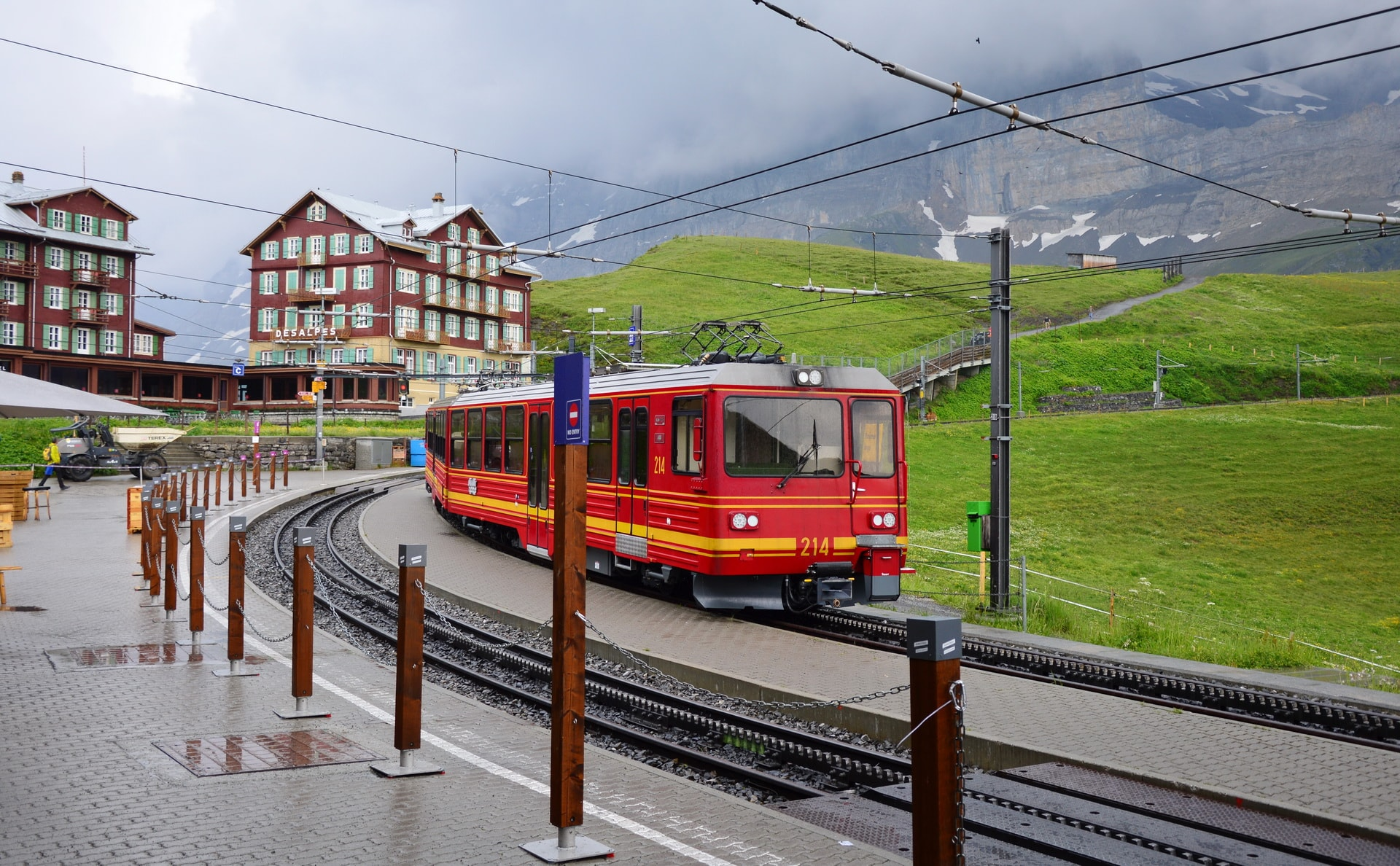 Kleine Scheidegg train station, Bernese Oberland, Switzerland