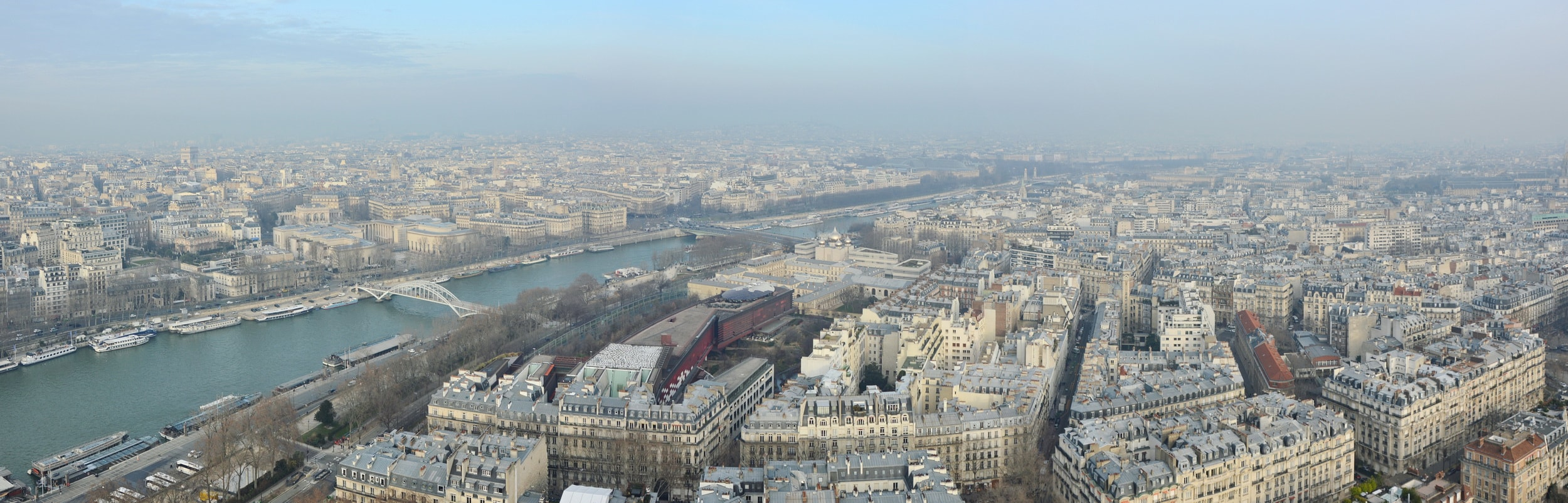 Looking to the north from the 2nd level of the Eiffel Tower