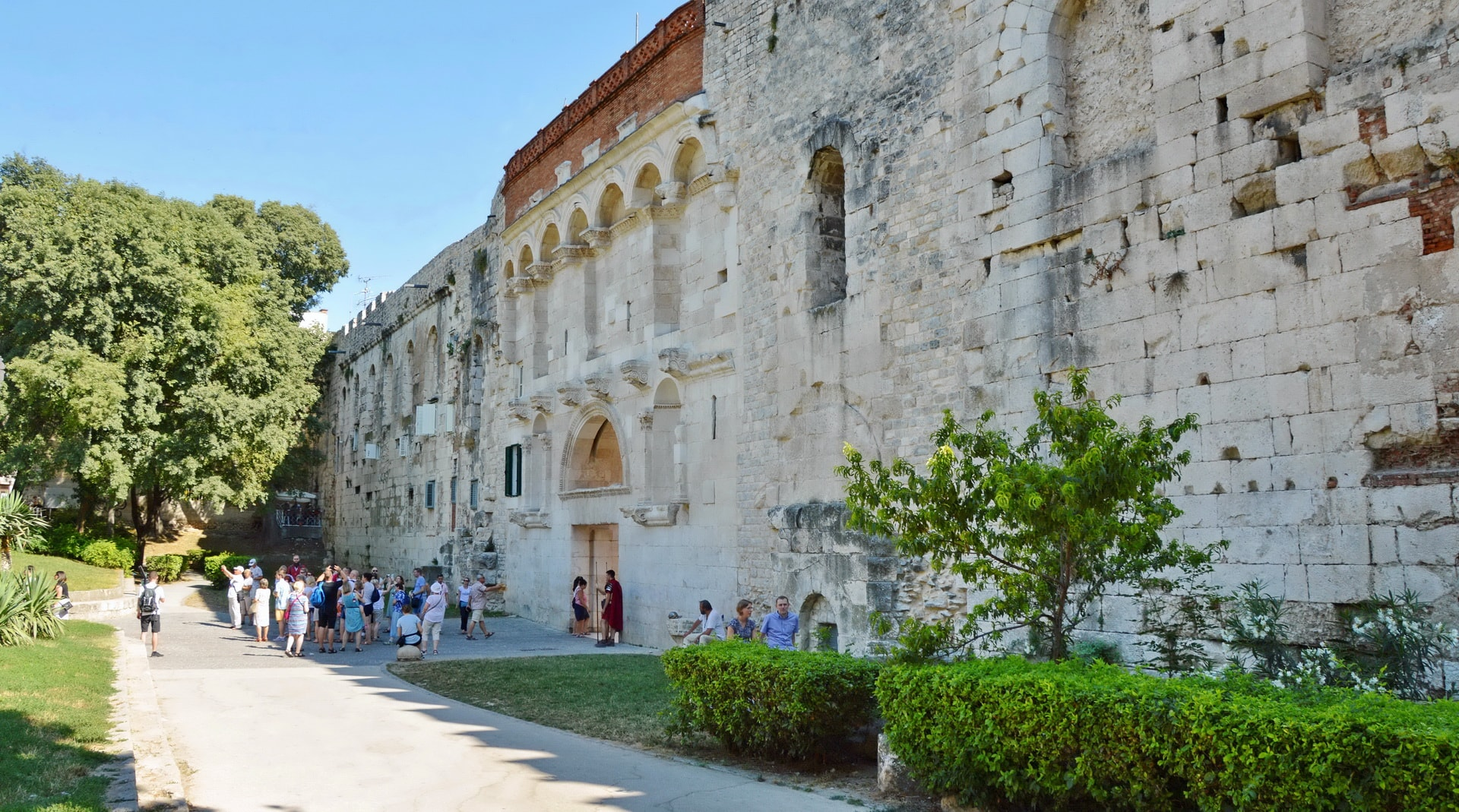 City Wall surrounding the historical centre of Split