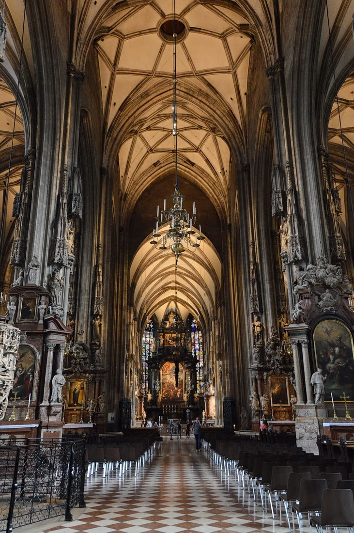 Inside the St. Stephen's Cathedral