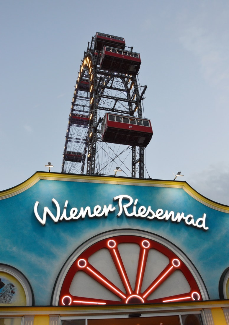 Prater's Giant Ferris Wheel offers nice views of Vienna