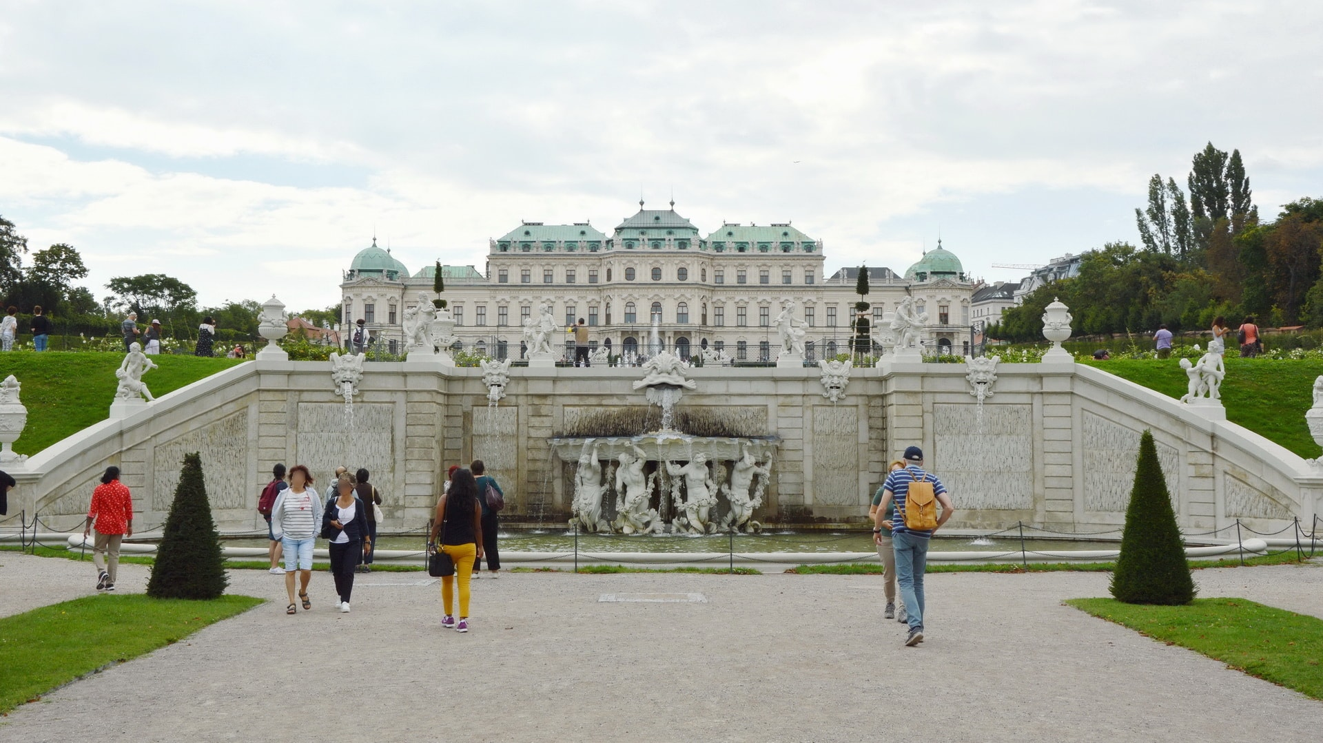 The Upper Belvedere seen from the gardens