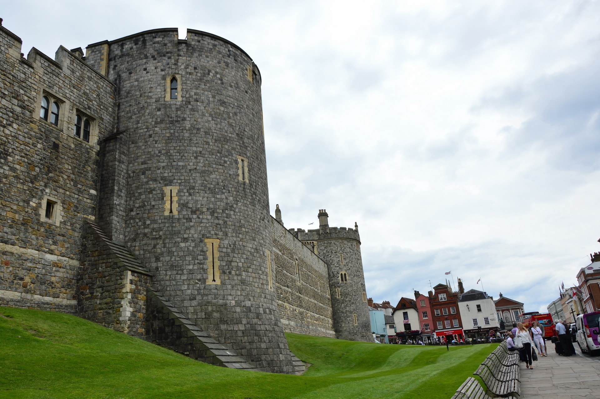 Massive walls of the Windsor Castle